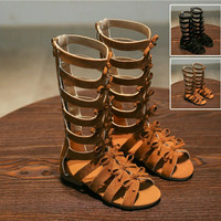 Sandal sepatu gladiator anak perempuan