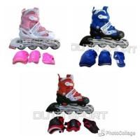 Sepatu Roda Inline dan Pelindung Lutut Sikut Telapak Tanga ORO283 New
