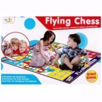 GIANT FLYING CHESS / LUDO / mainan anak karpet besar family games seru