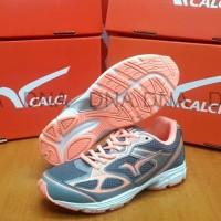 (Murah) Sepatu Running Calci Dallas Woman Grey / S. Orange - ORIGINAL