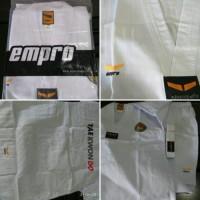 Dobok empro baju seragam taekwondo kerah putih