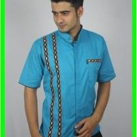 PROMO MURAH Baju Koko Pria casual Busana Muslim Pria TN 64 Biru Muda