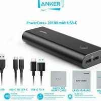 Anker PowerCore+ 20100 Power Bank 20100 Mah USB - C Black [ A1371611 ] - Hitam