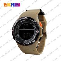 Jam Tangan Pria Digital SKMEI 0989 Brown Water Resistant 50M