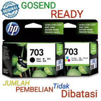 HP 703 ORIGINAL Catridge ink Black or Colour tinta Hitam atau Warna