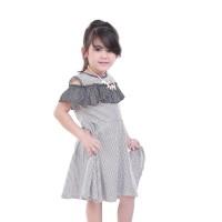 Dress Anak Polkadot Sabrina Hitam Kombinasi 2-6 tahun 32T17