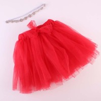 S351 New Baby Girl Tutu Skirt Cute Kids Princess Tulle Skirts With Rhi