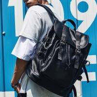 Backpack Cowok Korea Import Murah / Backpack Kulit Asli Pria mb0567