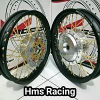 Sepaket Velg Ring 14 Tapak Lebar 185 215 Motor Beat Fi-Vario-Scopy