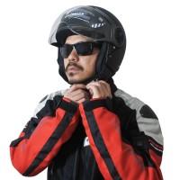 Helm Cargloss YR Ghotic HC Visor Hardcoat Half Face - Deep Black Doff