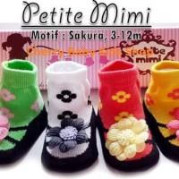 (Baju & Sepatu Bayi) Kaos Kaki Girl Petite Mimi Sakura 3-12 M