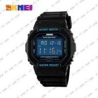 Jam Tangan Pria Digital SKMEI 1134 Bk Blue Water Resistant 50M