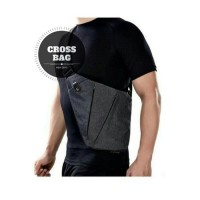Tas kanvas paspor hp multifungsi cross body bag slempang dada