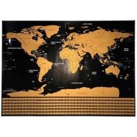Poster Scratch Map Peta Dunia Versi National Flag