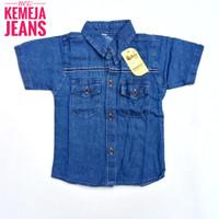1 2 3 4 tahun baju kemeja jeans anak laki-laki - 2 tahun