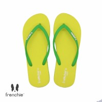 FRENCHIE Sandal Jepit Yellow Green COZY SCW02