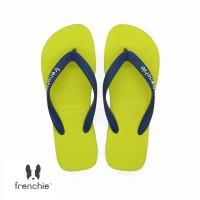 FRENCHIE Sandal Jepit Pria Navy Blue Yellow BOLD SBO06 - 38
