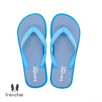 FRENCHIE Sandal Jepit Gray Turquoise Light Blue CURVE SCV07 - 40