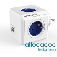 FLASHSALE PowerCube Original USB BLUE Allocacoc Stop Kontak Listrik