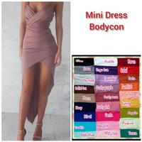 READY PROMO MINI DRESS BODYCON MODEL PANJANG BELAKANG