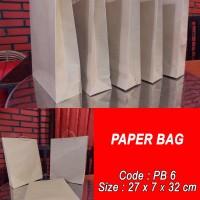 Paperbag/shoppingbag/tas kertas polos-27x7x32
