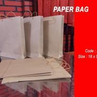 Paperbag/shopping bag /tas kertas polos-18x5x22