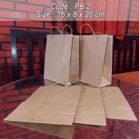 Paperbag/shopping bag/ tas kertas polos -16X8X20
