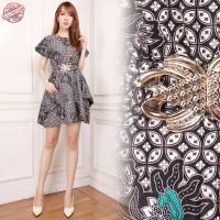 Dress Midi Batik Adibah Short Dress Wanita