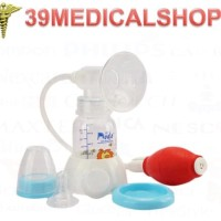 BREAST PUMP MANUAL DODO DENGAN BOTOL - POMPA ASI MANUAL DODO - Merah Muda