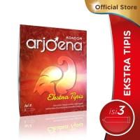 Arjoena Kondom extra tipis-Nyaman dan aman-import-Aroma strawberry