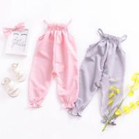 Summer Sleeveless Jumpsuits for Baby / Jumper Cantik Bayi - Abu-abu