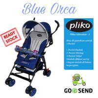 BABY STROLLER PLIKO 108 ADVENTURE 2 / KERETA DORONG BAYI [ NAVY BLUE ]