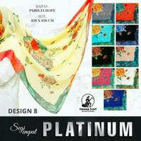 Jilbab Umama Platinum Motif 08 / Hijab Segiempat Paris Europe