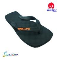 Sandal Swallow Premium Spectrum Pria - Logo Orange