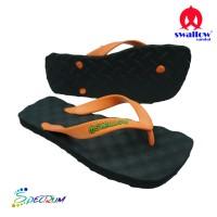 Sandal Swallow Premium Spectrum Pria Black – Tali Orange