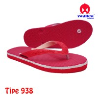 Sandal Swallow Original Tipe 938 - Merah (Size 9 - 10.5)