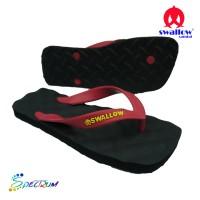 Sandal Swallow Premium Spectrum Pria Black – Tali Merah