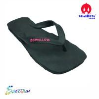 Sandal Swallow Premium Spectrum Pria Hitam - Logo Pink