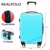 Real Polo Tas Koper Hardcase Fiber ABS 4 Roda Putar - 7716 Size 24 Inc