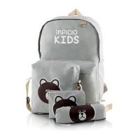STKGGA, tas sekolah/backpack/ransel anak laki-laki/perempuan 4 in 1