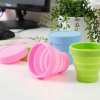Gelas Mug Portable Plastik bisa di lipat