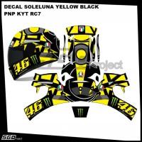 Sticker Decal Helm Soleluna Yellow Black PNP RC7