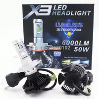 LED H4 Lampu Mobil With ZES 2nd G Chips Dual Beam