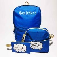 Lucu/Tas Ransel Anak Blue Sheep 3 in 1/Backpack Sheep/Kids Backpack