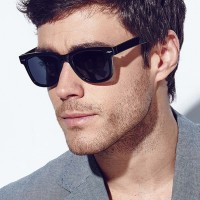 Kacamata gaya Sunglasses Wayfarer Vintage Retro Classic Fashion Hitam