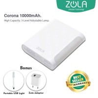 Zola Corona 10000 mAh Powerbank FREE USB Light & Kepala Charger