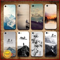 FC1538 Landscape Scenery Case For Iphone 7 6 6S Plus Mountains Bamboo