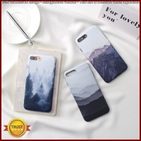 FC1690 Landscape scenery painted case for iphone X 7 7Plus Forest moun