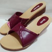 Sandal Wedges Wanita Karet H4cm#model sandal CARVIL#Sandal Cantik