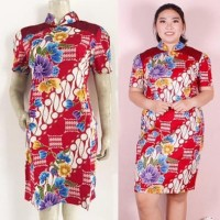 Dress Batik Cheongsam Rossa Jumbo